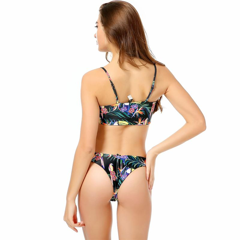 High Cut Swimwear Women Bandeau Swimsuit Beachwear Bathing Suit Bikini-SWIMWEAR-SheSimplyShops