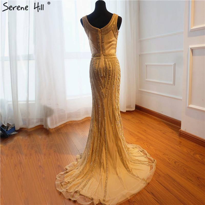 New Deep-V Sexy Mermaid Evening Dresses Full Crystal Cap Sleeves Fashion Elegant Evening Gowns-SheSimplyShops