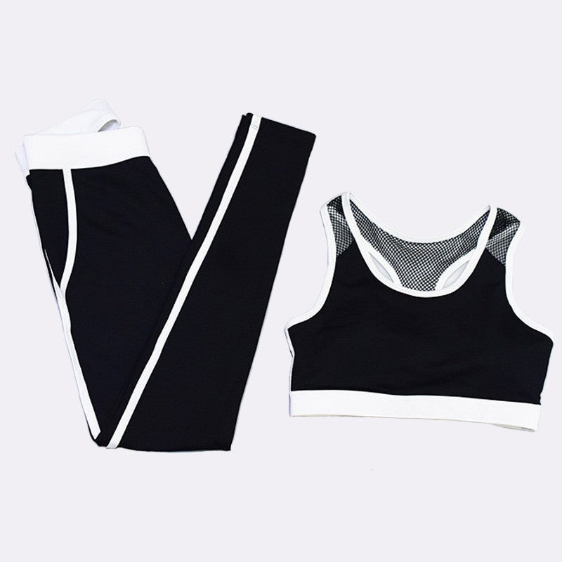 Patchwork Women Sport Suit Jogging Running Yoga Set Fitness Gym Clothing Sport Costume Women Sports Bra+Legging Sportswear Women