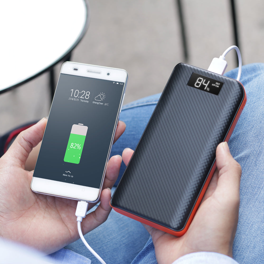 Power Bank 20000mAh Powerbank 3 USB External Battery Pack for iPhone 6 6s 7 8 10 iPad Samsung Xioami Huawei Sony LG HTC Nokia.