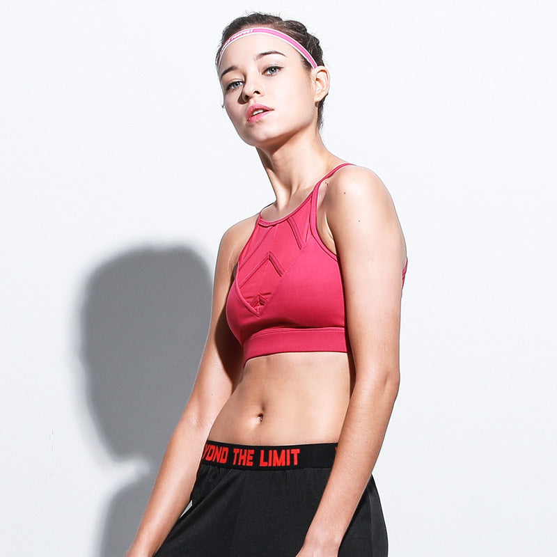 Push Up Sports Bra Padded Sports Top Fitness Women Mesh Yoga Bra High Impact Breathable Sport Underwear Running Fitness Tank Top