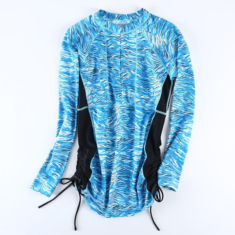 Rash Guard Women Long Sleeve Swim Shirts Anti-UV Swimsuit For Women Surfing Suit Sun Protection Surfing Tops-Bottoms-SheSimplyShops