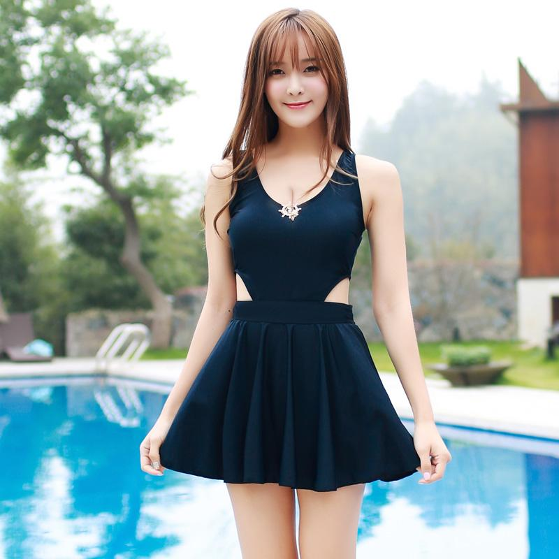 Girl cross back bathing suit female dress beach wear-Dress-SheSimplyShops