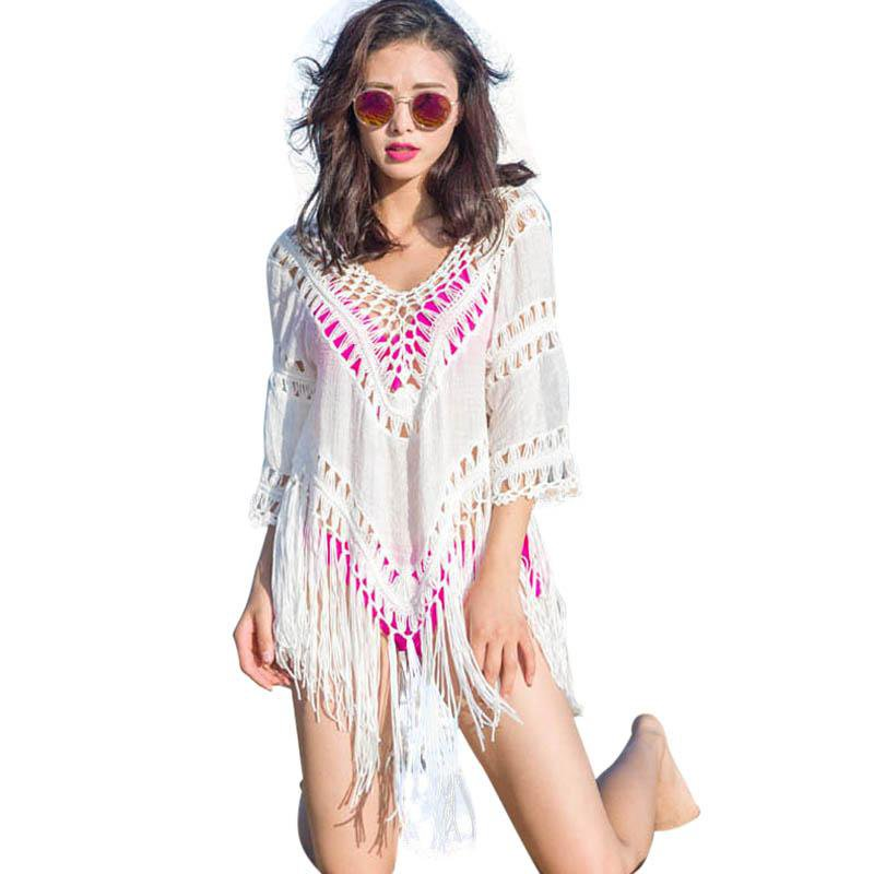 Swimwear Cover Up Women beach cover up blouse Crochet Swimsuit cover ups Summer Women-Blouse-SheSimplyShops