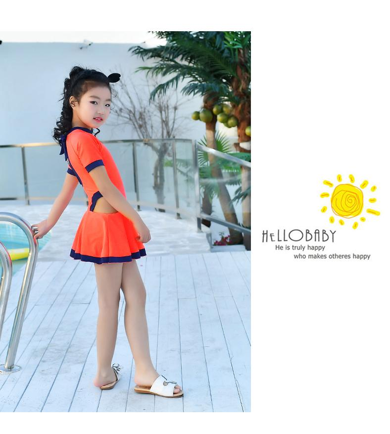 Girls Dress Swimwear Beachwear Swim suit Children Swimsuit One Piece kids Bathing suit-Dress-SheSimplyShops