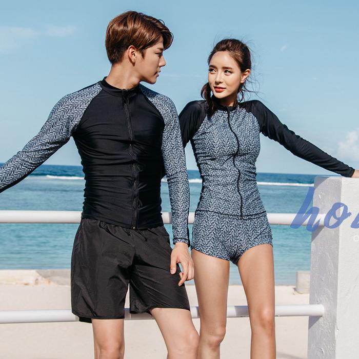 Couple long sleeve Rash Guard Swimwear For Swimming And Surfing-SWIMWEAR-SheSimplyShops