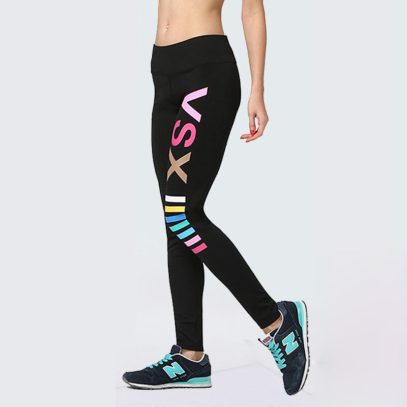 Running Tights Sports Leggings Women Stretchy Yoga Pants Gym Leggings Female Compression Pants Soft Sport Pants Elastic Trousers