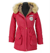 Fur Collar Long Hooded Coat-Coats & Jackets-SheSimplyShops