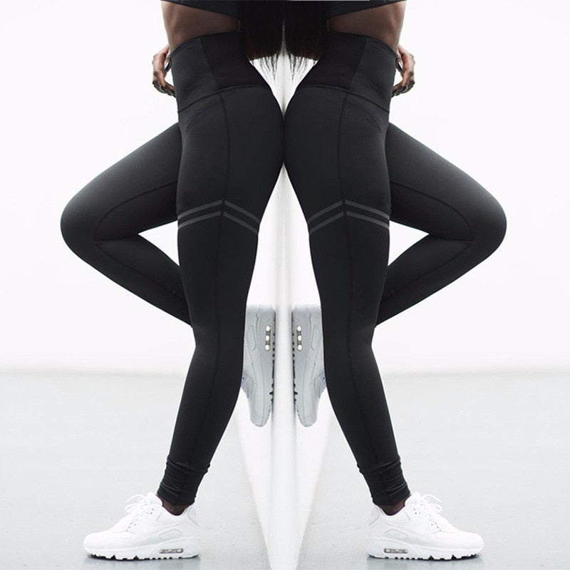 Seamless Running Sport Leggings Women Solid Fitness Yoga Legging Gym Training Yoga Pants Elastic Breathable Sports Wear