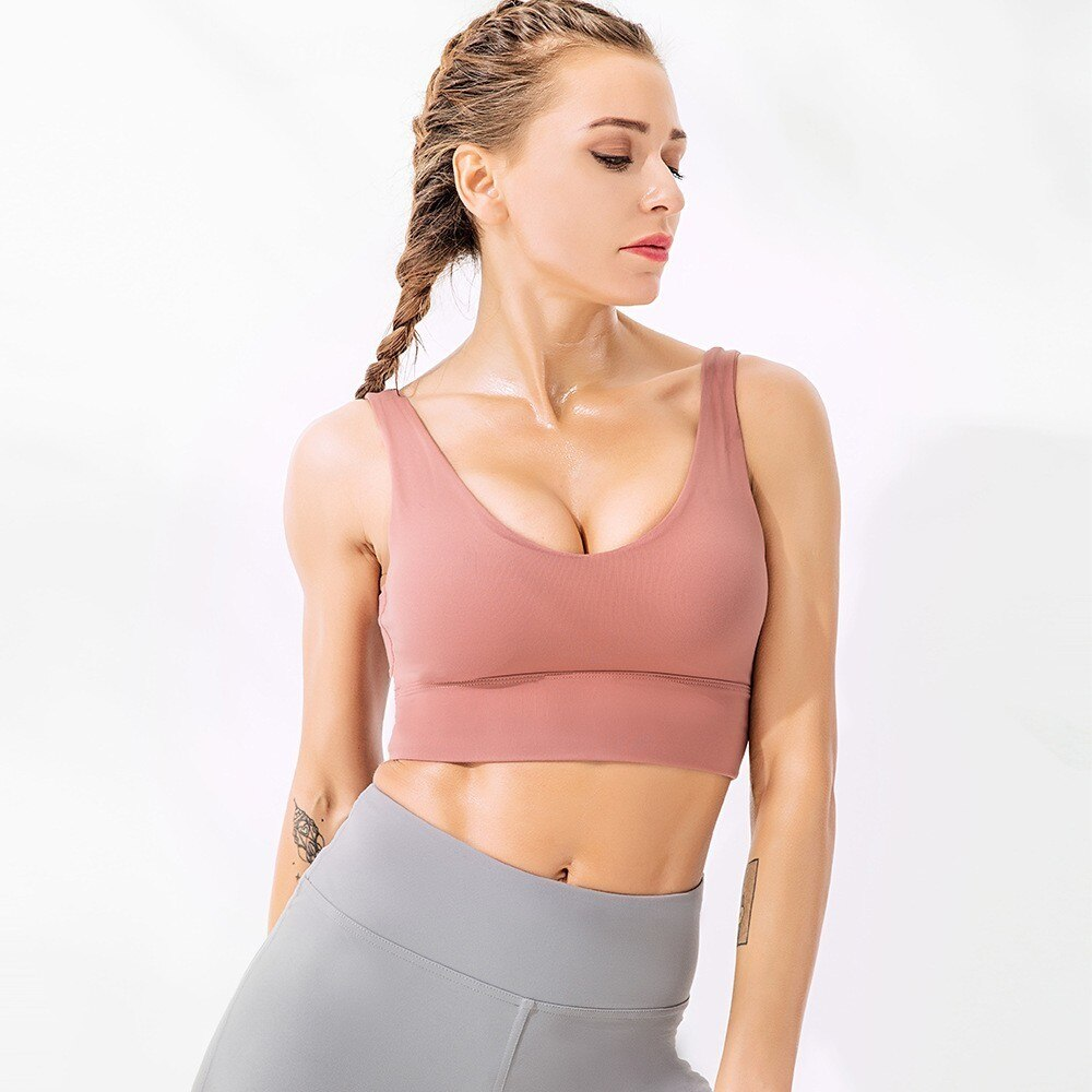 Seamless Sports Bra Push Up Sports Crop Top Fitness Women Yoga Bra Gym Underwear Brassiere Sport Femme Sports Wear For Women Gym