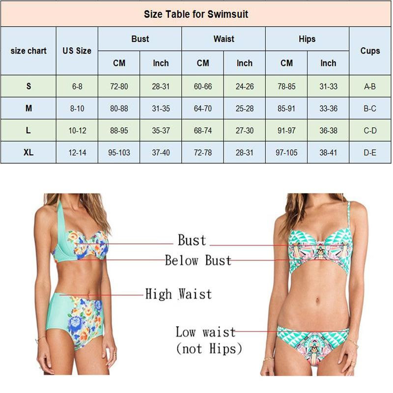 Sexy Bikinis Swimsuit Women High Neck Crop Top Women Floral Print Biquini Swimwear Female Beach Bathing Suit-SheSimplyShops