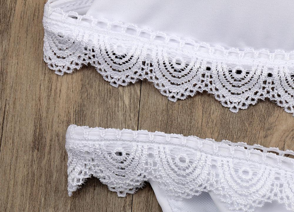 Sexy Pads Lace Bikini Women Push Up Swimwear Beach White Retro Swimsuit Micro Bikini Set Bathing Suit Bikini-BAGS-SheSimplyShops