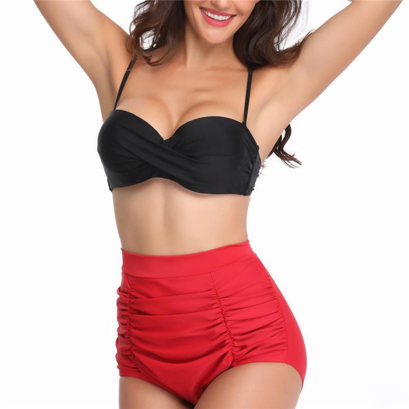 Women High Waist Bikini Set Swimsuit Bandage Bathing Suit Bikinis Beachwear-SWIMWEAR-SheSimplyShops