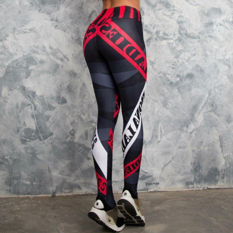 Shaping Hip Yoga Pants letter Women Fitness Tights Workout Gym Running Bottom Slim Low Waist Sports Leggings drop shipping