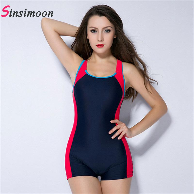 Sexy boxer shorts one piece bathing suit Athletic Swimwear competition swimsuit Straight angle shorts professional swim suit-SHORTS-SheSimplyShops