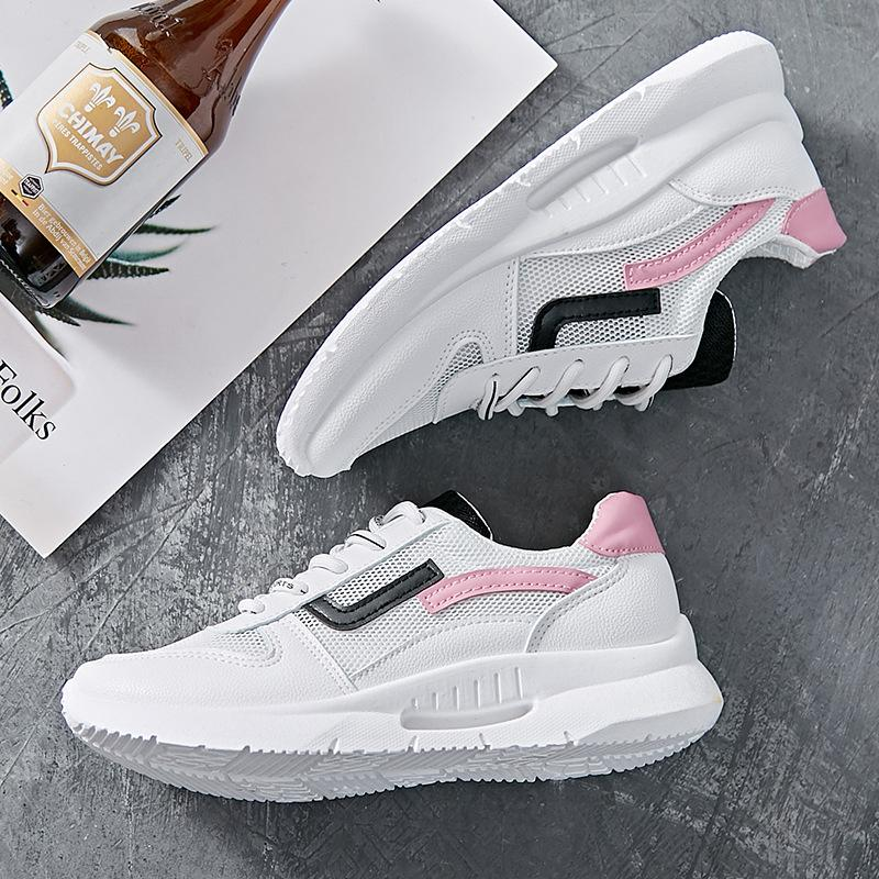 Sneakers Women Sport Shoes Air Mesh Light Jogging Running Shoes Gym White Sneakers Lace-up Sport Walking Shoes-ACTIVEWEAR-SheSimplyShops