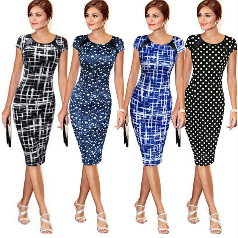 Women Bandage Body con Short Sleeve Party Midi Dress-Dress-SheSimplyShops