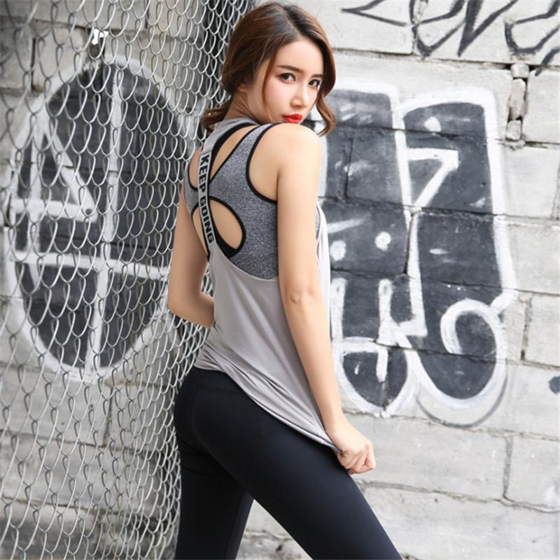 Sport Tank Tops Women Yoga Top Gym Sports Vest Running Jogging Workout Sleeveless Shirts Fitness Women Sportswear Tanks Top Vest-ACTIVEWEAR-SheSimplyShops