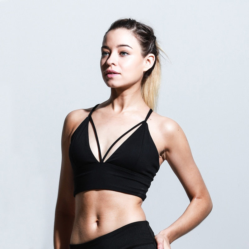 Sports Bra Fitness Women Yoga Bra Push Up Padded Brassiere Sport Women Fitness Bra Top Breathable Tank Top Fitness Yoga Top