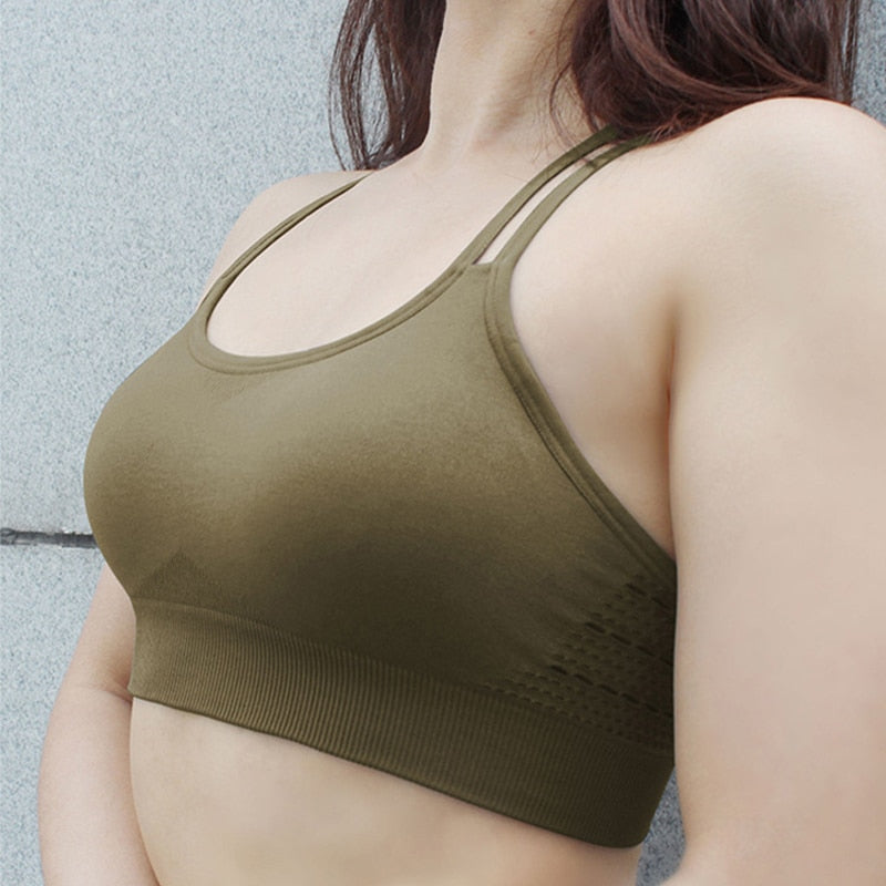 Sports Bra Top Fitness Women Yoga Bra Gym Seamless Sports Bra Push Up Brassiere Sport Femme Crop Top Workout Women Sportswear