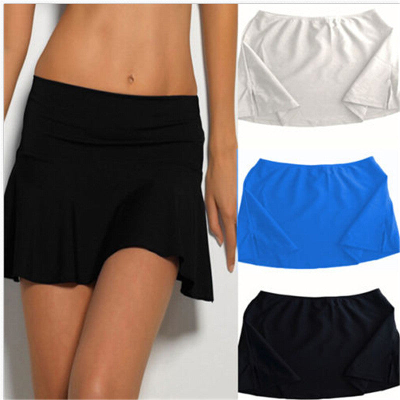 Woman Beach Swimsuit Swimwear Beachwear Bathing Suits Short Skirt Solid One-Piece Suits-SKIRTS-SheSimplyShops