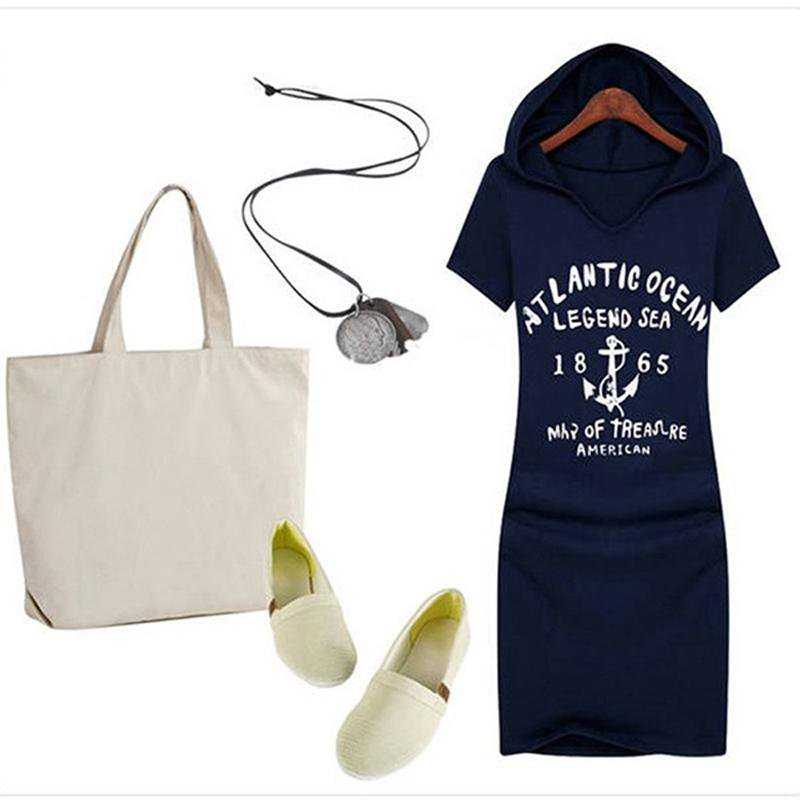 Summer Style Casual Dress Women Fashion Print Letters
