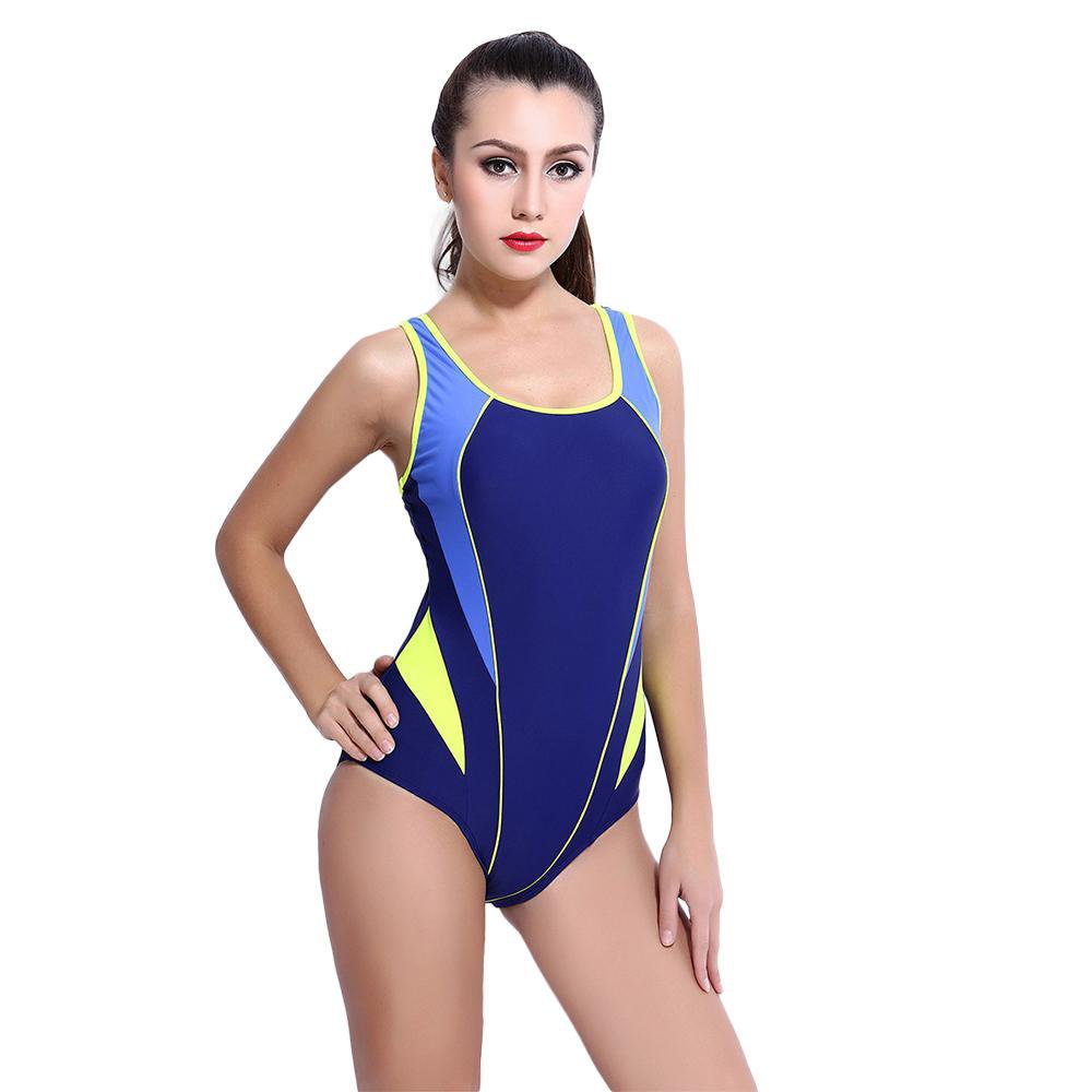 Women Bodysuit Beach Wear Patchwork Swimwear Bathing Suit-SheSimplyShops