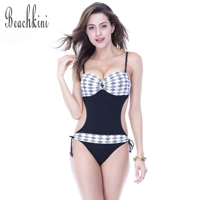 Geometric Print High Waist Bikini Women Swimwear Swimsuit Bathing Suit-SheSimplyShops