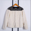 TVVOVVIN High Quality Autumn Winter Rivet Patchwork Female's Rabbit Fur Coat Jaqueta Feminina Jacket Q433