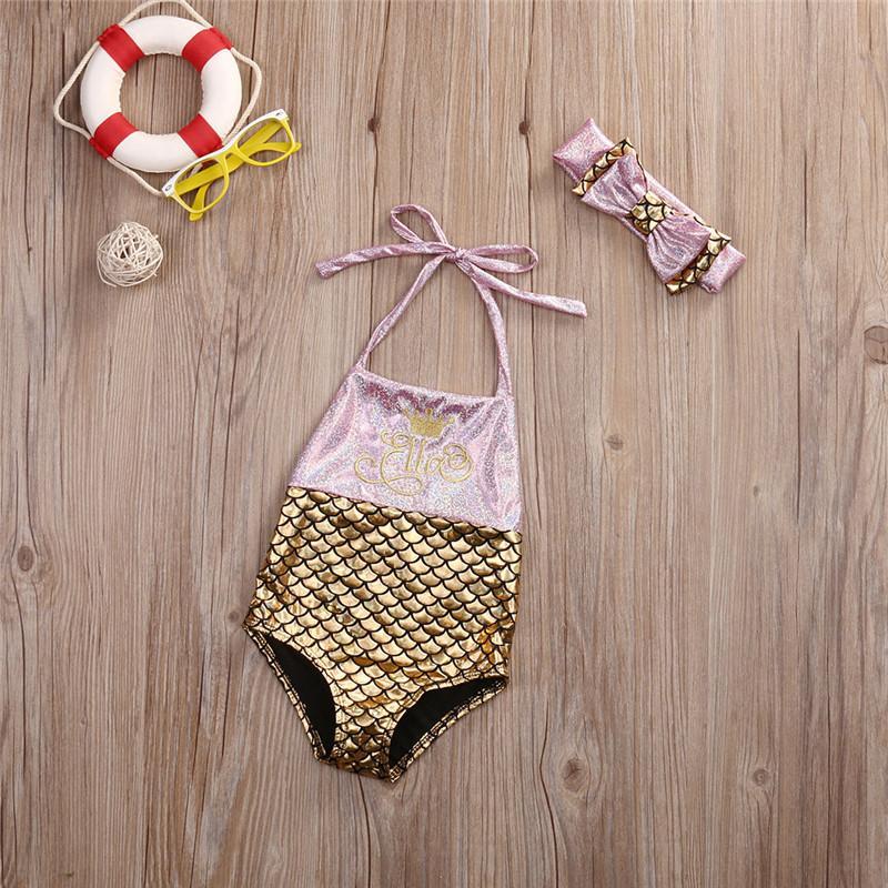 Toddler Kids Baby Girls Mermaid Swimsuit Swimwear Beach Bikini-SWIMWEAR-SheSimplyShops