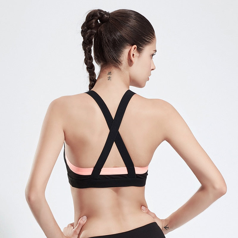 Top Sport Women Sport Underwear Sports Bra Push Up Yoga Bra Tank Top Fitness Yoga Top Running Vest Gym Sport Clothing Sportswear