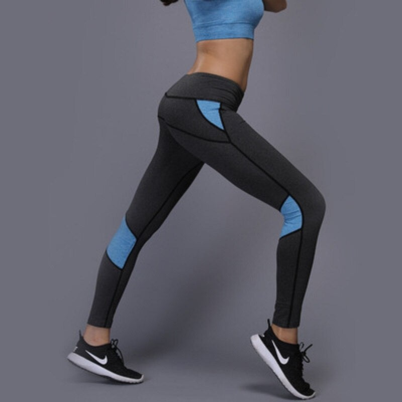 Toppick Leggins Sport Women Fitness Stitching Leggings Push Up Female Leggings High Waist Yoga Pants Plus Size Gym Leggings