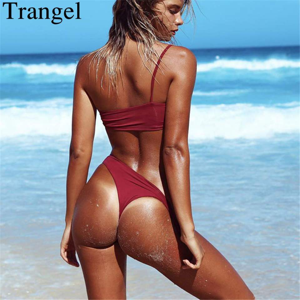 Bandeau Bikini Set Sexy Thong Bikinis Swimsuit Swimwear High Cut Beach Bathing Suit-SWIMWEAR-SheSimplyShops