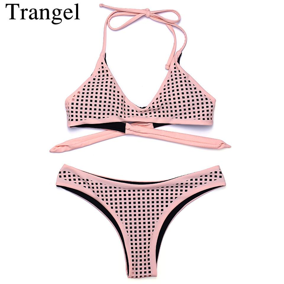Sexy swimsuit bikini set hollow out swimwear women bathing suit-Bottoms-SheSimplyShops