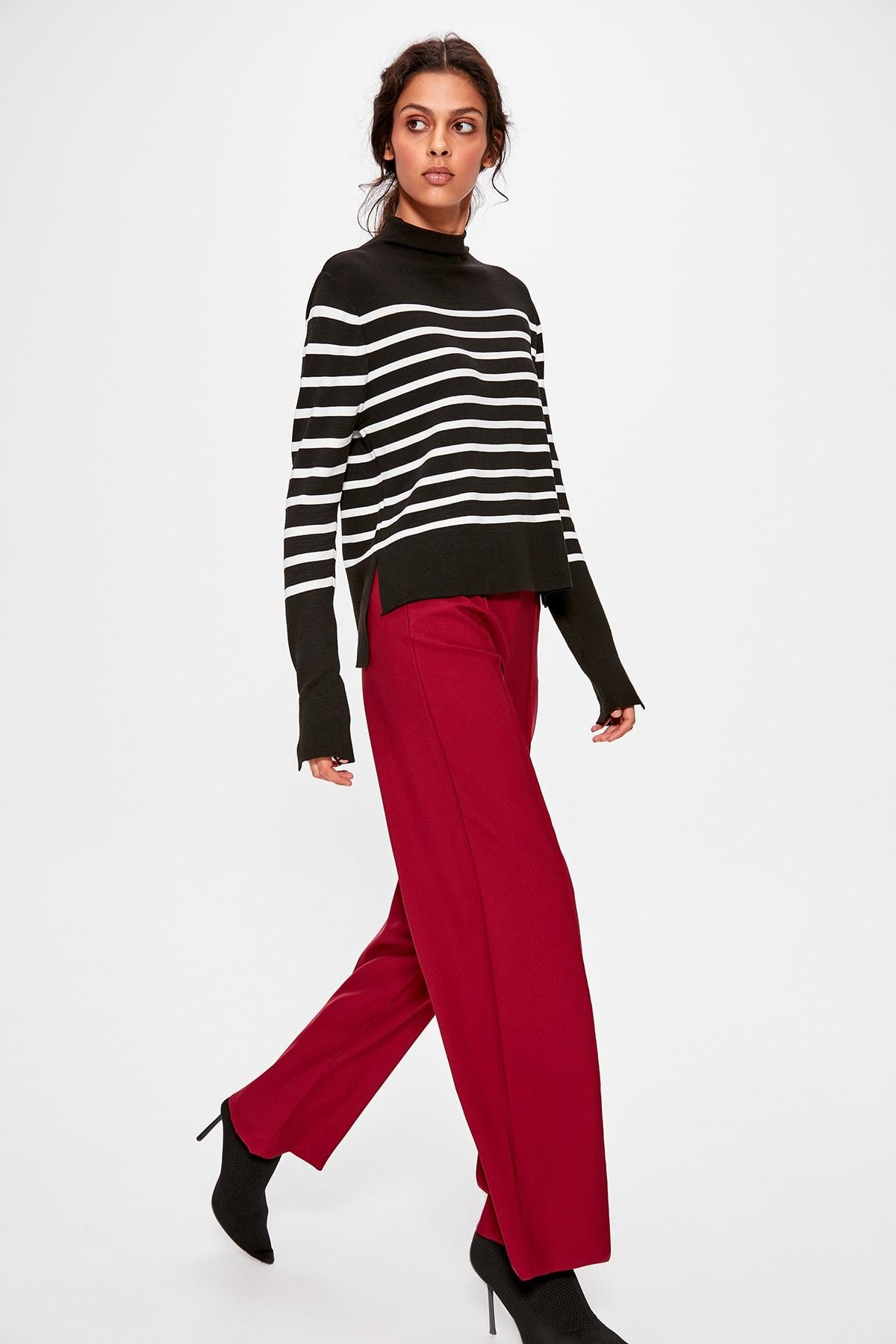 Burgundy Basic Pants TWOAW20PL0194