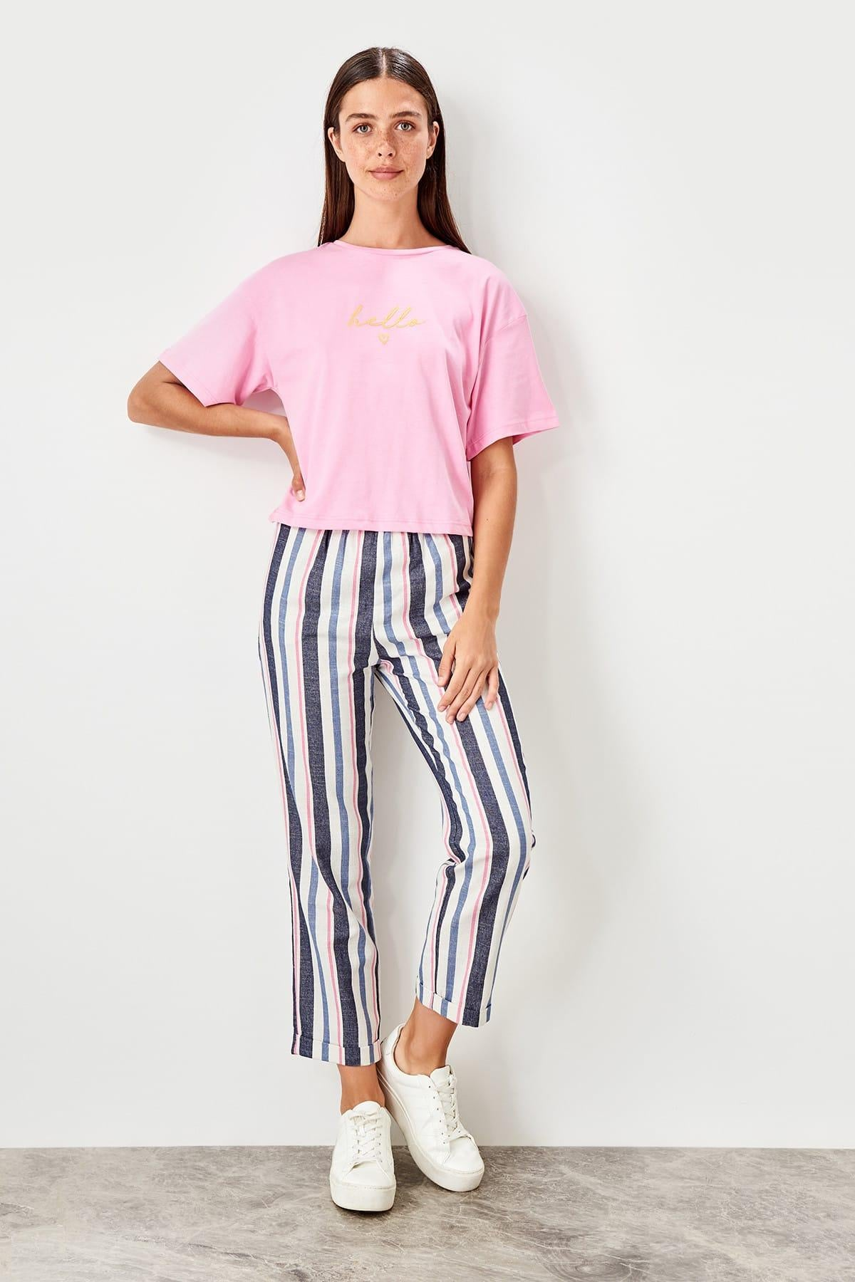 Multicolour Stripe Pants TWOSS19MV0006