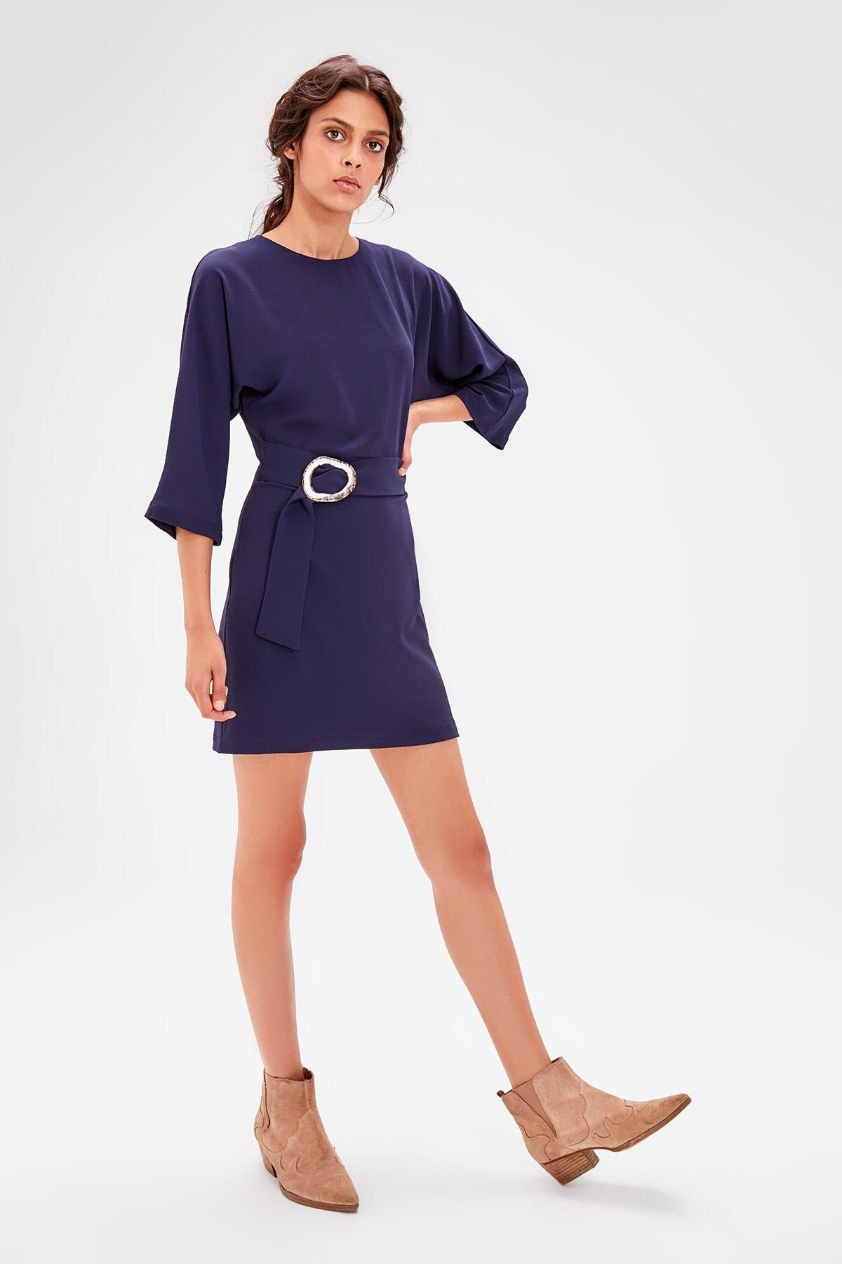 Navy Kemerli Dress TWOAW20EL1288