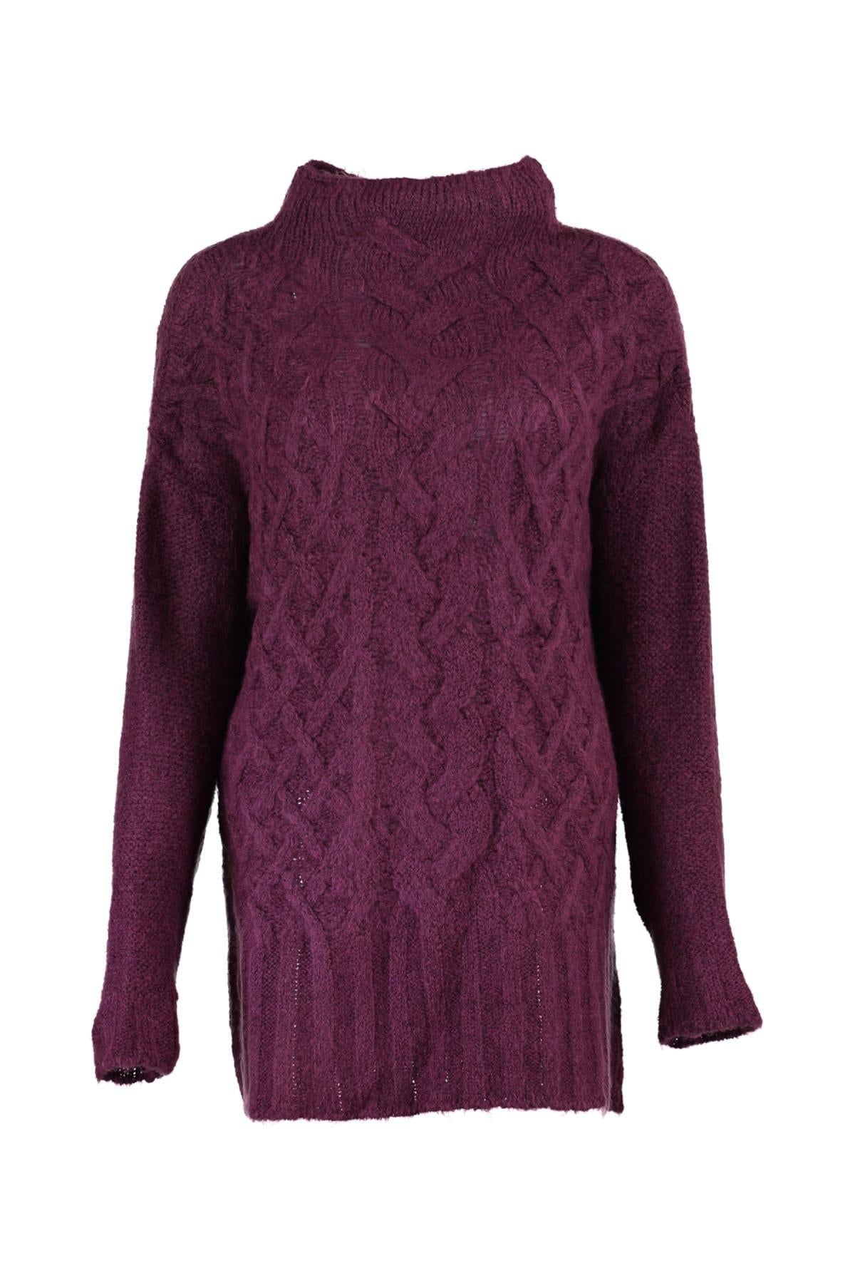 WOMEN Mürdüm Mesh Detaylı Knitwear Sweater TWOAW20NV0037