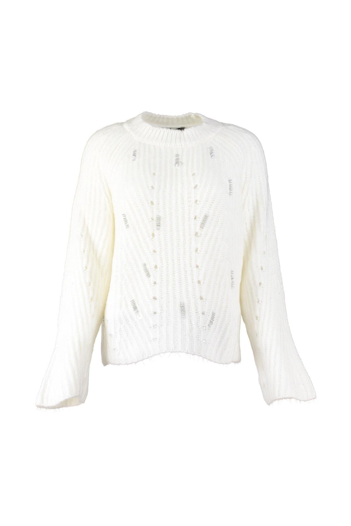 WOMEN Raw White Silvery Sweater Sweater TWOAW20ZA0056