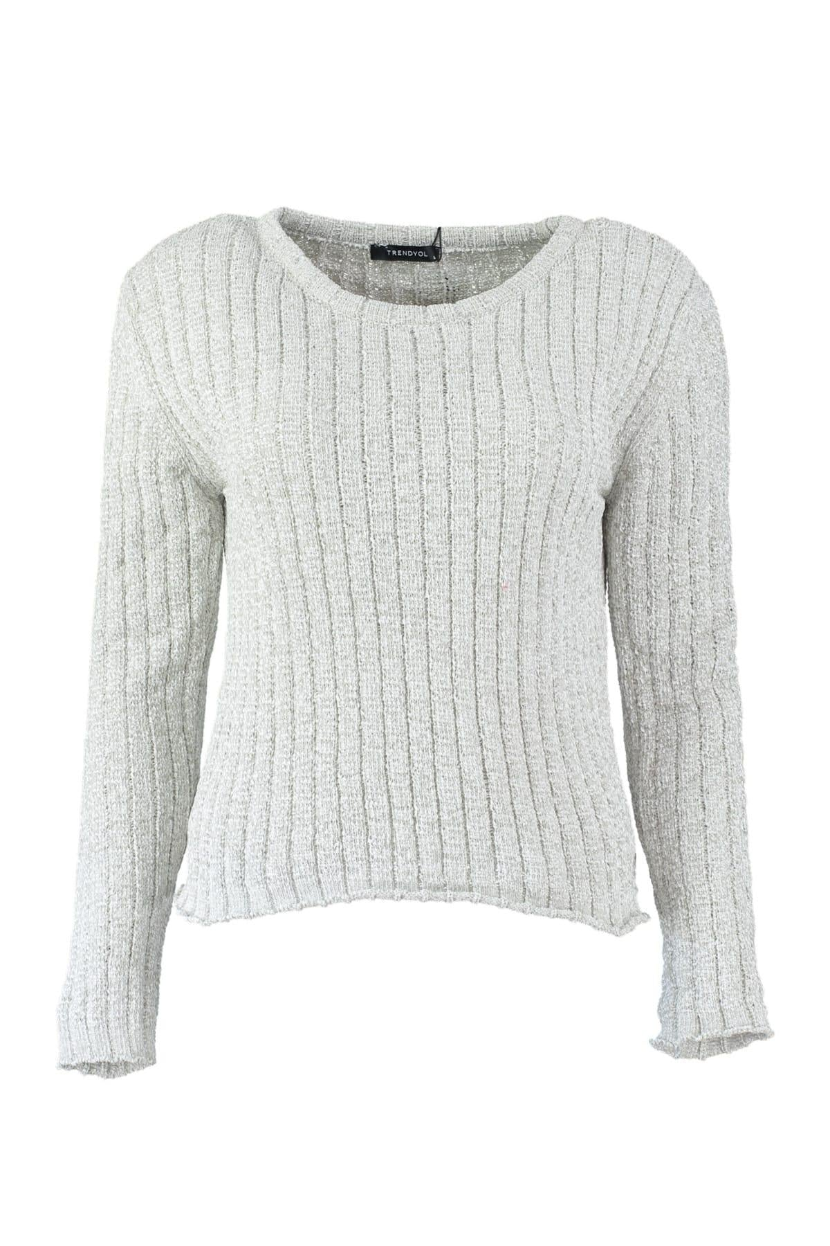 WOMEN Stone Bicycle Neck Şönil Knitwear Sweater TWOAW20WW0010