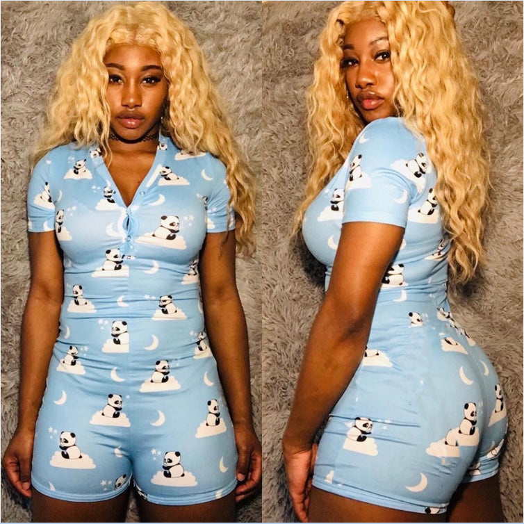 Women's Lady Romper Bodycon Casual Jumpsuit Romper Long Sleeve Shorts Leotard Home Wear Tracksuit Playsuit Pajama