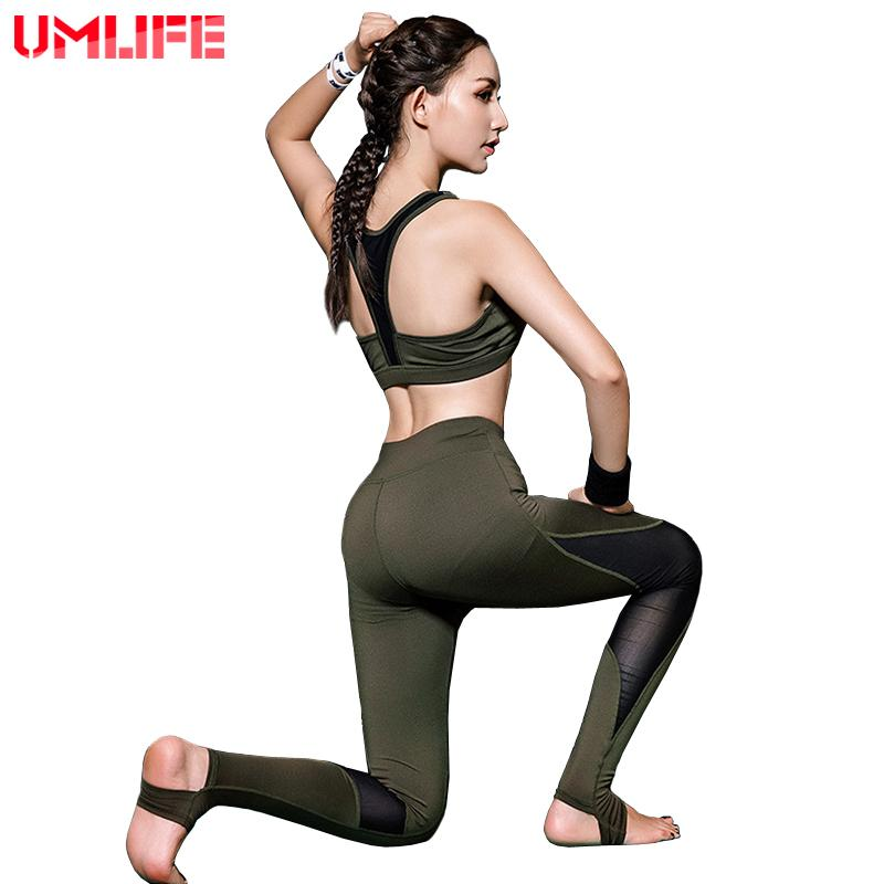 Yoga Suit Sports Suits Yoga Bra Yoga Leggings Yoga Set Sport Running Fitness Gym Tracksuits For Women Mesh Patch-SheSimplyShops