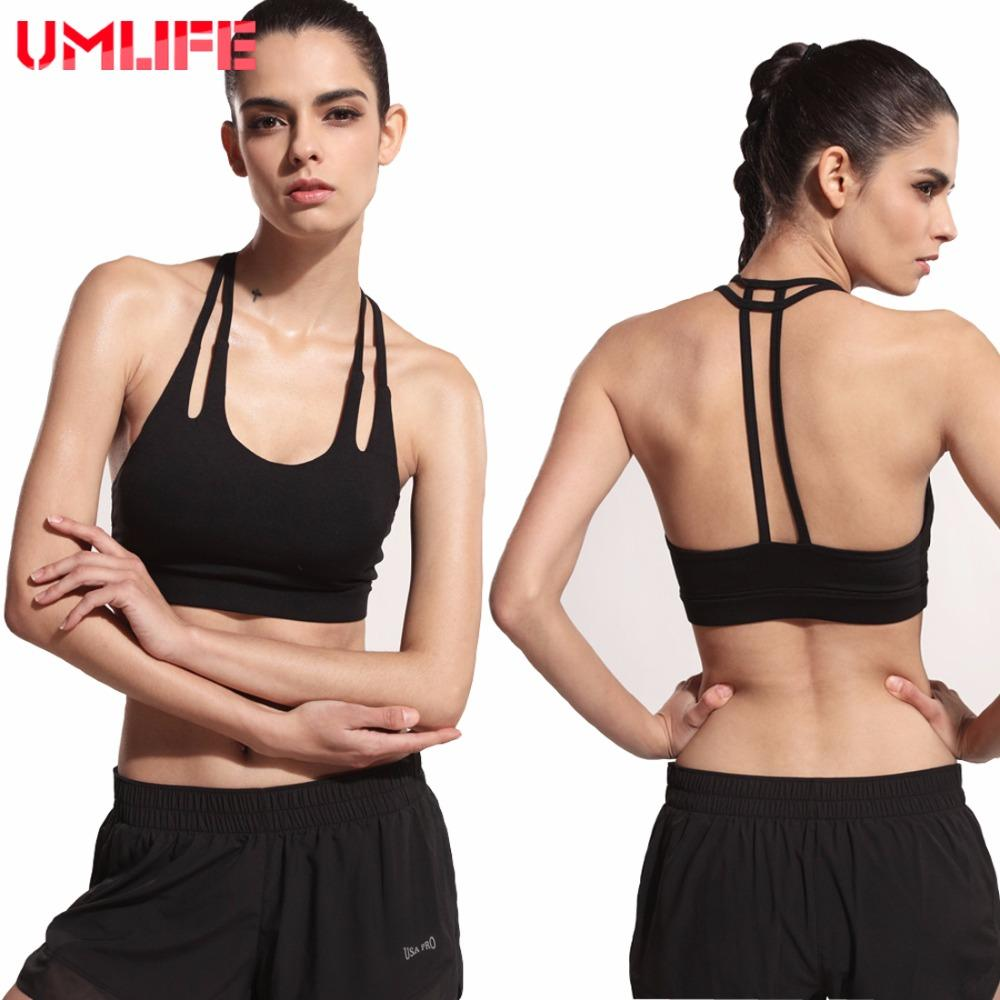 Double Strap Breathable Women Yoga Bra Shockproof Push Up Sports Bra Fitness Running Sport Bra Padded Ladies Clothes-SheSimplyShops