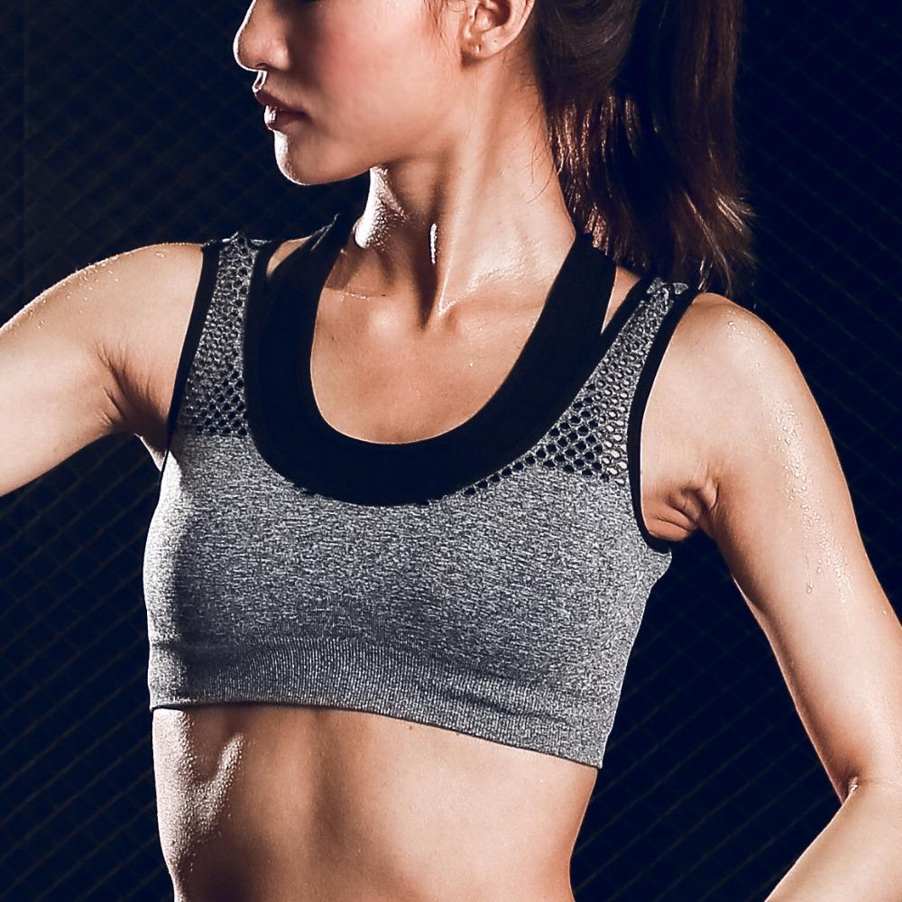 Women Sports Bra Fitness Running Yoga Bra Sexy Push Up Gym Workout Tank Top Padded Shockproof Vest Underwear Breathable-SheSimplyShops