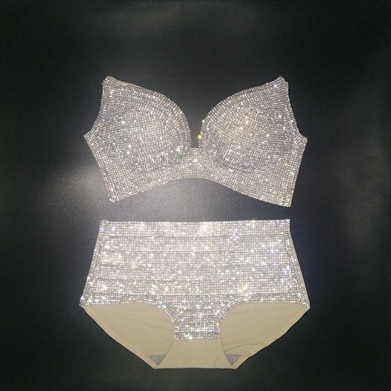 Women diamond swimwear push up rhinestone bling stones bikini lady bathing suit-SWIMWEAR-SheSimplyShops