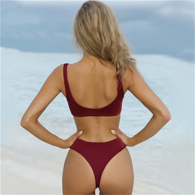Women Bikini with Swimwear High Waist Padded Bikini Sets Push Up Swimsuit-SWIMWEAR-SheSimplyShops