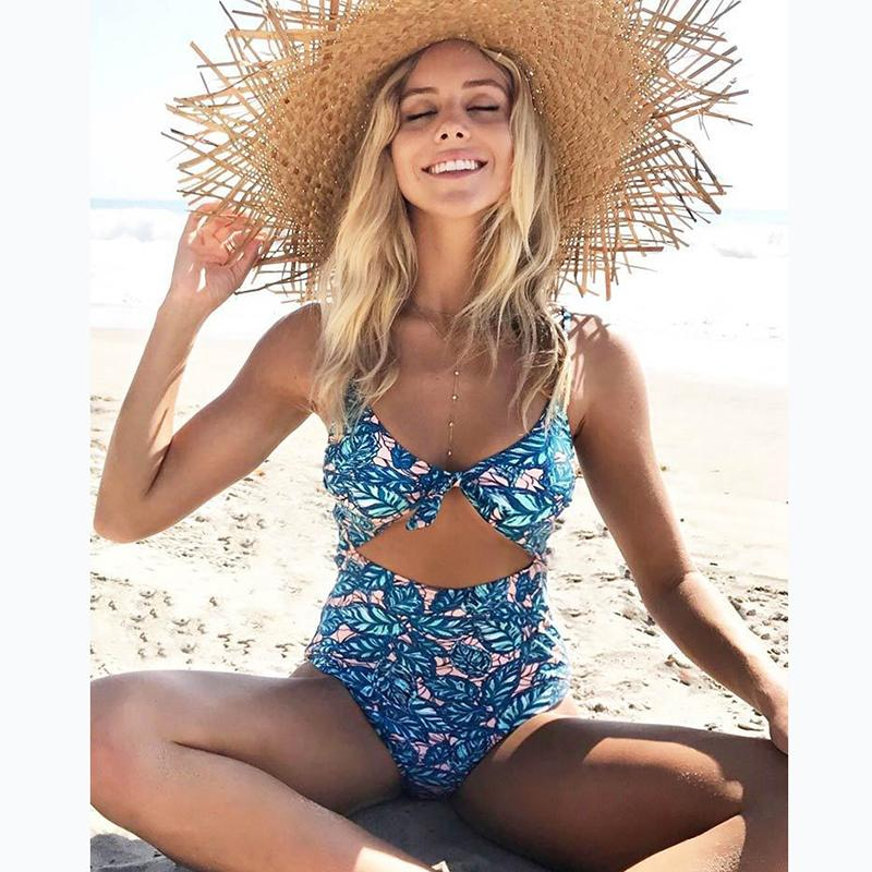 Women One Piece Swimsuit Floral Swimwear Bodysuit Piece Swimwear Halter One Piece Swimwear Bathing Suit-SWIMWEAR-SheSimplyShops