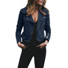 Women Coat winter girl clothing Womens Ladies Retro Rivet Zipper Up Bomber Jacket Casual Coat Outwear Solid Polyester