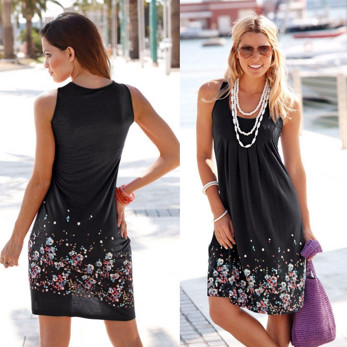 Women Dress Summer Dresses New Casual Female Clothing Sleeveless Party Midi Dresses-Dress-SheSimplyShops