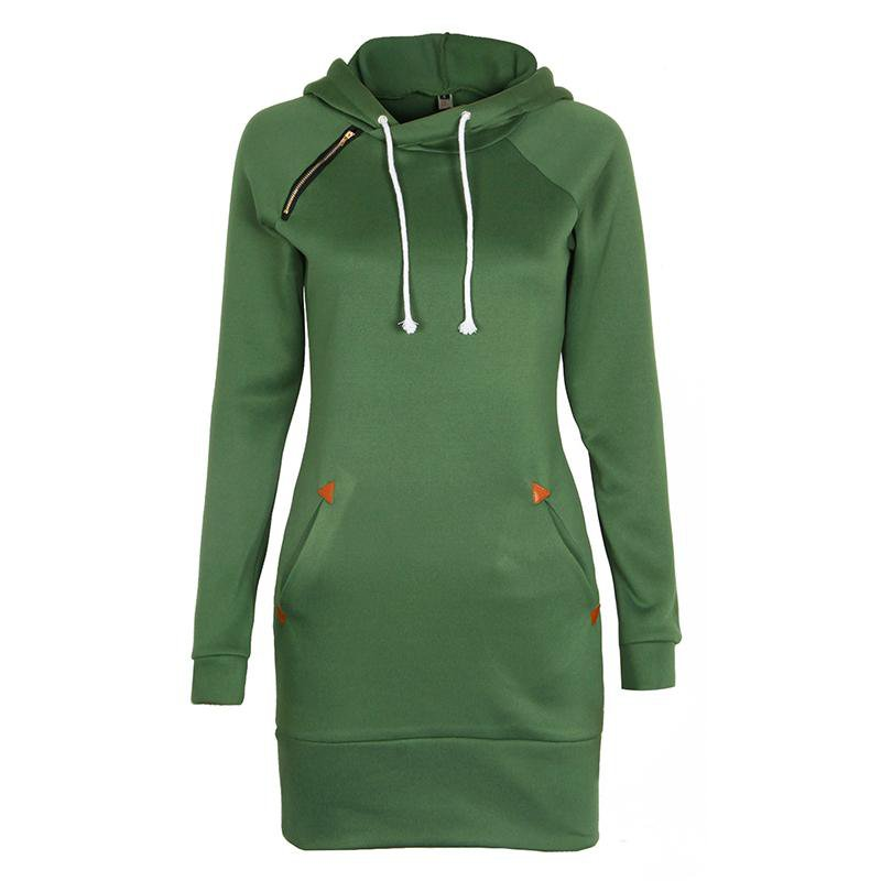 Women Fashion Hoodies Sweatshirt Long Sleeve Zip Sweatshirts Winter Moleton Pullovers Hoodie-Dress-SheSimplyShops